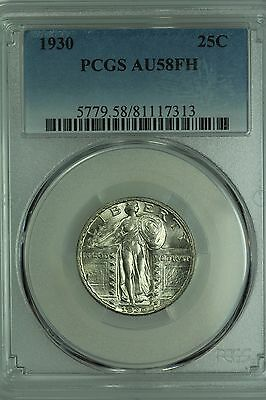1930 Standing Liberty Quarter! Pcgs Au58 Fh! Full Head! 25C! Us Coin Lot #3202