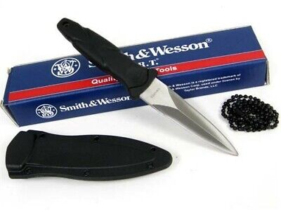 SMITH & WESSON S&W H.R.T. Fixed BOOT Neck Knife + Sheath New! SWHRT3