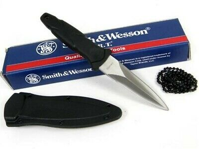 Smith & Wesson S&W SWHRT3 H.R.T. Fixed Boot Neck Knife + Sheath