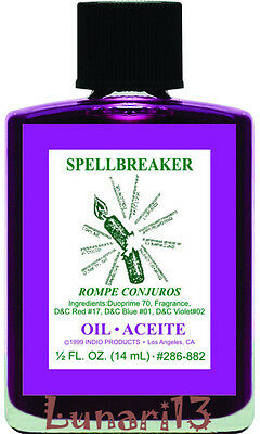 Spell Breaker, Rompe Conjuros, Oil, Indio Products, 1/2 oz, Lunari13, Wicca