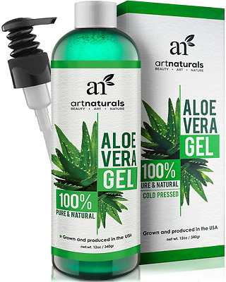 ArtNaturals Organic Aloe Vera Gel - for Face, Hair and Body - 100% Pure Natural