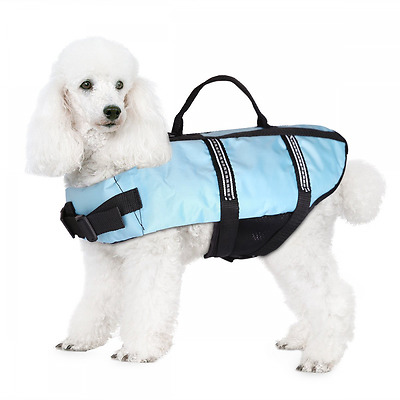 JZHY Dog Life Jacket Safety Clothes Swimming life jackets Swimwear with Adjustab