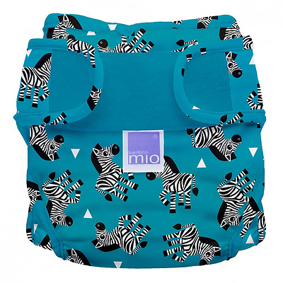 Bambino Mio Miosoft Reusable Nappy Cover (Size 1, Zebra Crossing)