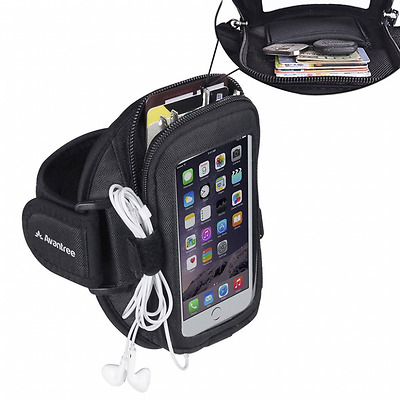Avantree iPhone 6 / 6S Sports Running Armband with Key Holder / Card Pouch, Fits
