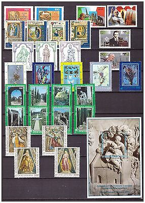s15566) VATICANO MNH** 1995, Complete Year set 30v + s/s