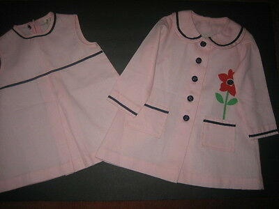 Vintage ~Mary Jane~ Toddler Girl Pink Dress with Matching Coat