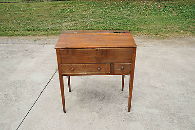 Antique Mid-1800's Pine Dovetailed Primitive Slant/Lift Top Schoolmaster's Desk