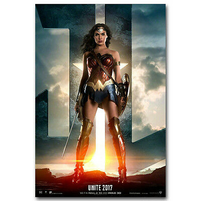 WONDER WOMAN JUSTICE LEAGUE New Superheroes Movie Poster 12x18 24x36 inch