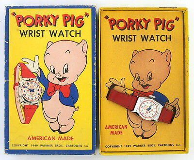 1949 Porky Pig Character Watch by Ingraham in the Original Box