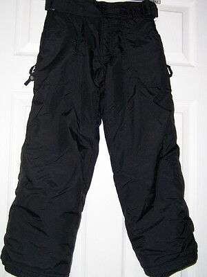Rawik kids childs youth insulated/lined snowboard ski Pants S black boys