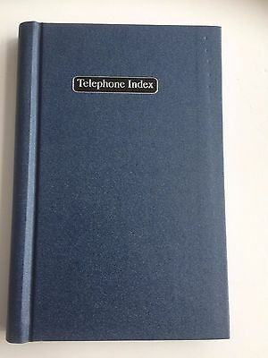 A-Z A5 Telephone Address Phone Numbers Email Book Wiro Hard Cover Blue