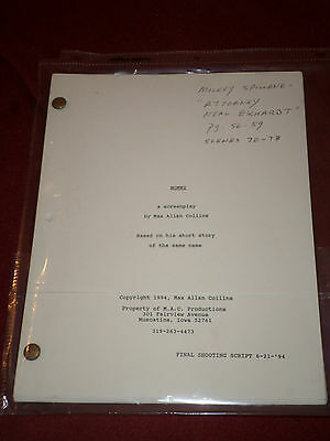Final shooting script for Mommy (1995) Actor used - Mickey Spillane The Bad Seed