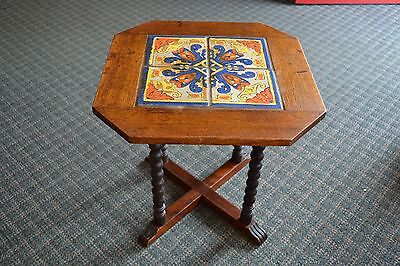 California tile top table, Mission, Spanish Revival