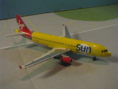 Phoenix Model Virgin Sun A320 1:400 Scale Diecast Metal Model
