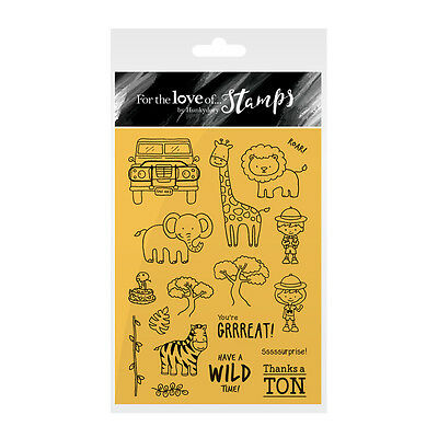 SAFARI ADVENTURE - For The Love of Stamps Clear Stamp Set - Hunkydory