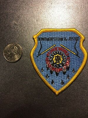 Fort Peck Assiniboine / Sioux Tribes Dept Of Law And Justice Police Patch Small