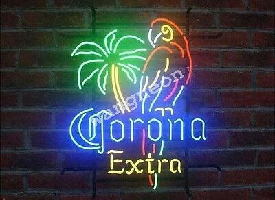 New Corona Extra Parrot Palm Tree Neon Sign Beer Bud Light FAST FREE SHIPPING