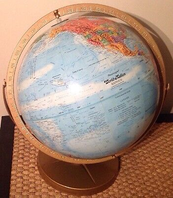"""Replogle Dual Axis Globe World Nation Series Raised Topography 12"""" Must See"""