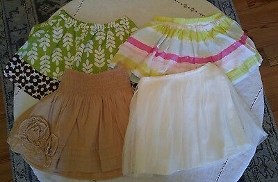 lot of 4 skirts 2t gap old navy carters