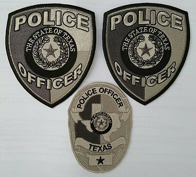 Texas Subdued Police Patches set