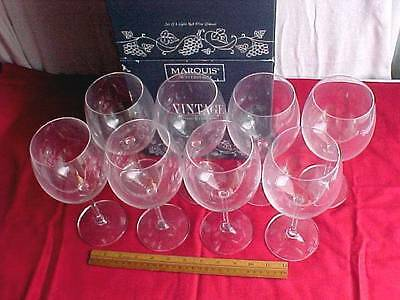 8 Marquis by Waterford Vintage Light Red Wine Glasses 2 Boxes of 4