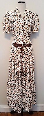 Vintage Desert West by Sherry Holt Cowboy Country Western 2pc Tiered Skirt Sz S