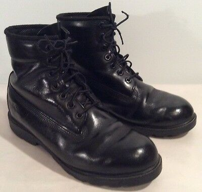 Men's 6 In Black Leather Timberland Dress/ Work Boots 9 W