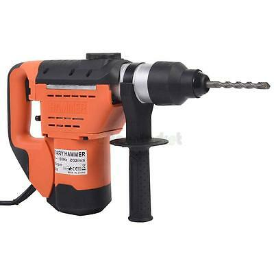 "1-1/2"" SDS Electric Rotary Hammer Drill Plus Demolition Bits Variable Speed"