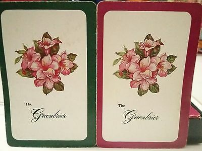The Greenbrier White Sulphur Springs WV Playing Cards Rummy