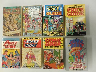 8x OVERSTREET Comic Book PRICE GUIDE # 5 8 9 12 13 14 15 16 ~ 1975-1986