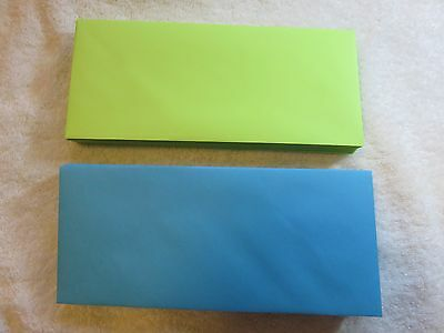 40 #10 BUSINESS ENVELOPES in 2-BRIGHT COLORS...20-BLUE..20-GREEN.  4 1/8 X 9 1/2