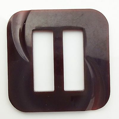 Bakelite Square Retro Vintage Belt Buckle 2 3/8 inches 6 cm Width Height A698
