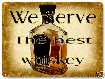 WHISKEY METAL SIGN LIQUOR GREAT GIFT BAR TAVERN vintage style wall decor 159
