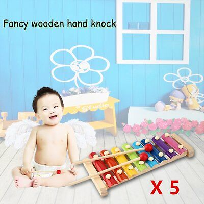 5 X Hand Knock Wood Piano Kids Toy Xylophone Music Rhythm Learnin In Advance N5