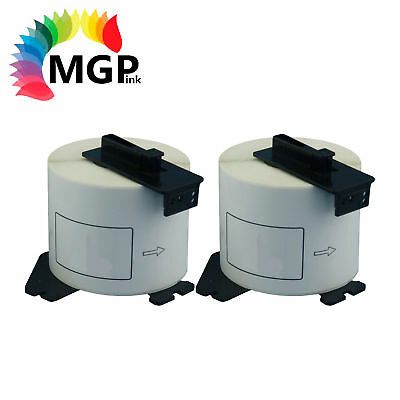 2 Compatible Brother for DK22205 Continuous Roll-62mm x 30.45m QL-570 QL-650