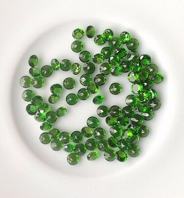 Genuine Natural Chrome Diopside Round Cut Gems USA 3-4mm   AAA  USA