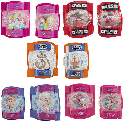 Kids knee and elbow pads SET protective gear Disney Frozen Cars Star Wars
