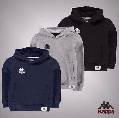 Junior Boys Branded Kappa Casual Over The Head Cesena Hoody Top Size Age 7-14