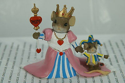 No Jest Mom, You Rule Charming Tails~New~Mouse Dressed Like A Queen~Free Us Ship