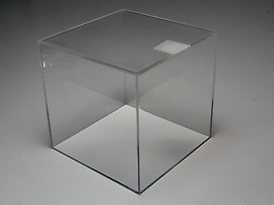 "DISPLAY CASE ALL CLEAR ACRYLIC COLLECTION BOX 3.54""x3.54""x3.54"" MADE IN JAPAN"