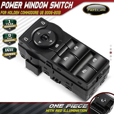 Black Master Power Window Switch for Holden Commodore VE With Red Illumination