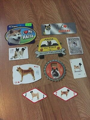 Akita Lot, Magnets And Cards