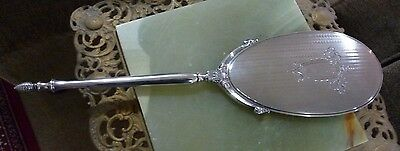 Large ART DECO Sterling Silver Vanity Mirror - HALLMARKED