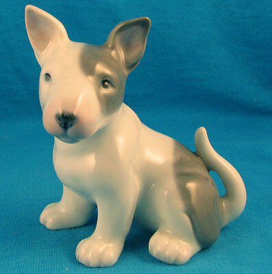 DNC porcelain bull terrier puppy dog FREE SHIPPING sitting pup adorable