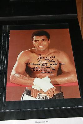 RARE Muhammed ALI/Cassius Clay signed with verse and sketch +COA
