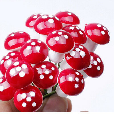 30x Resin Mushroom Toadstool Garden Ornaments Gnomes Potted plants decoration GU