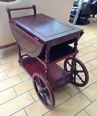 chinese rosewood furniture serving trolley cum drop leaf  table