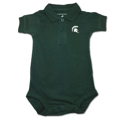 Michigan State Spartans Baby Polo Onesie Creeper Bodysuit (FREE SHIPPING) 3-6 mo