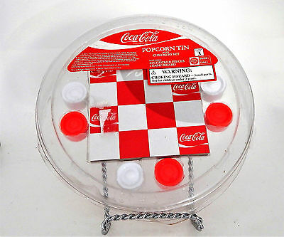 Coca Cola Popcorn Tin Checkers Set Unopened
