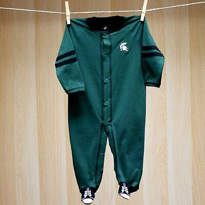 Michigan State Spartans Baby Infant Footie Coverall (FREE SHIPPING) 6-9 months
